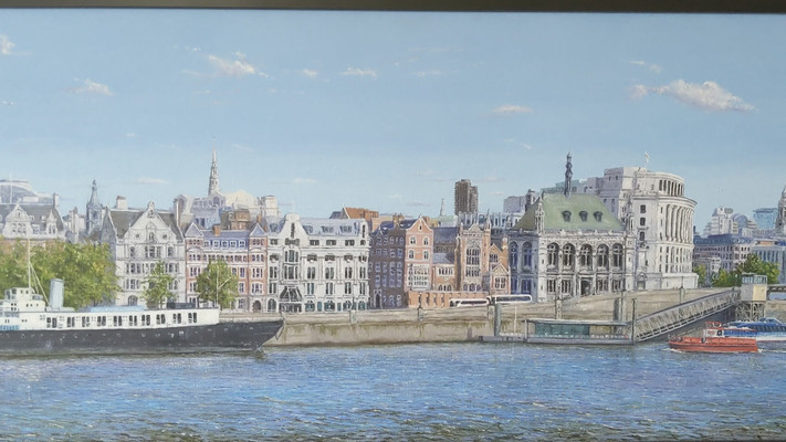 On The Wall, oil painting of London