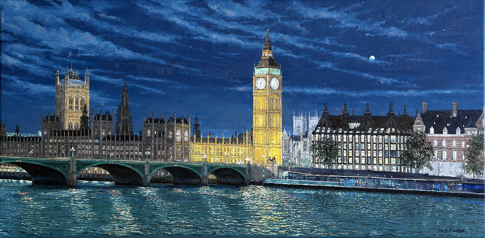 Houses of Parliament, Night Scene