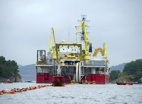 Efficiency and transparency in guard vessel coordination for the world's longest power cabel.