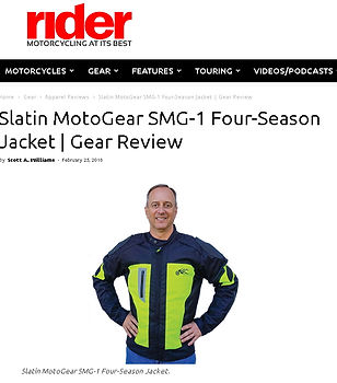Great Rider Mag review of Slatin MotoGear's 4 Seasons Jacket .