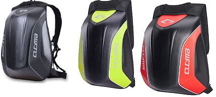 Slatin Motogeasr motorcycle back comes in multiple colors.