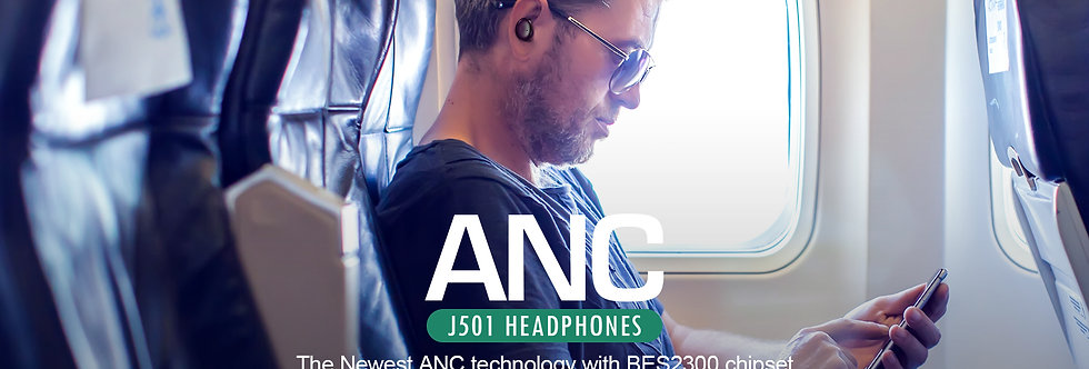 Freedom Wireless 'Button-Style' EarBuds With Active Noise Cancelling (ANC)