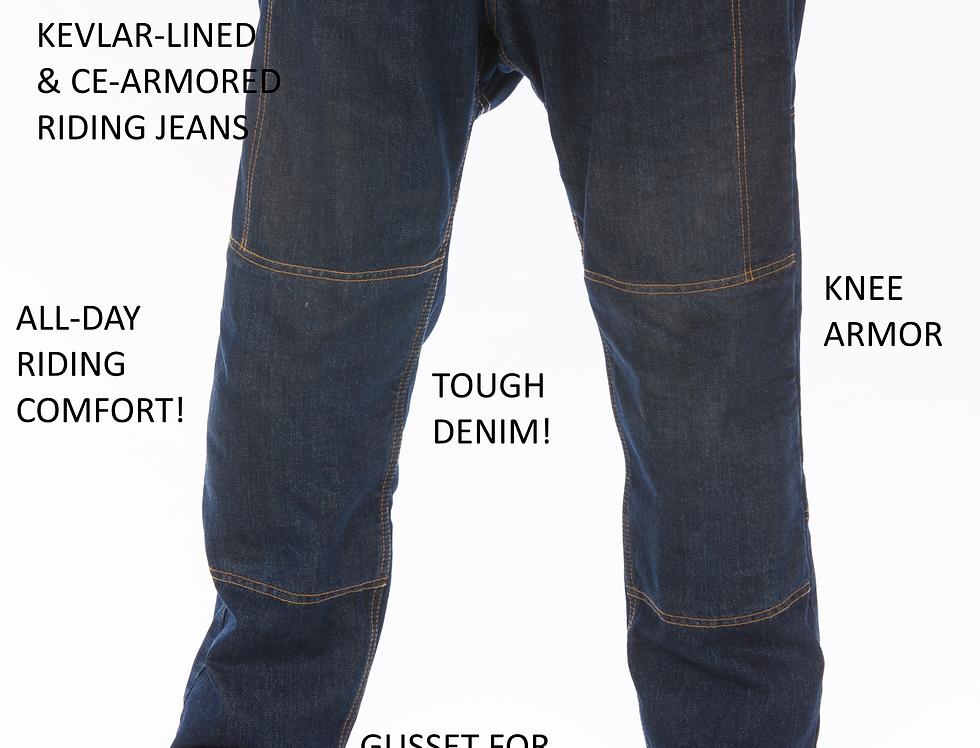 Mens Kevlar & CE-Armor Biker Jeans