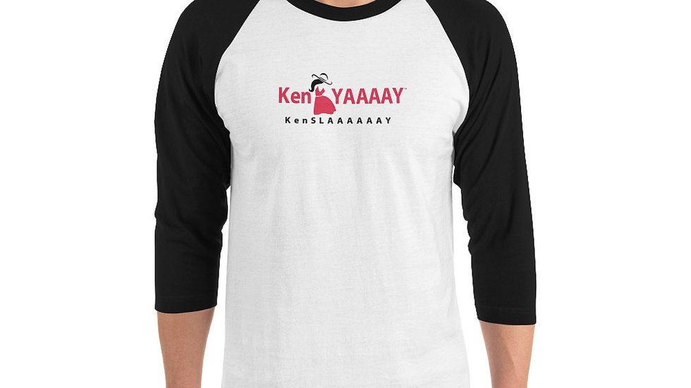3/4 sleeve raglan shirt - KenYAAAAY KenSLAAAAAAY Logo