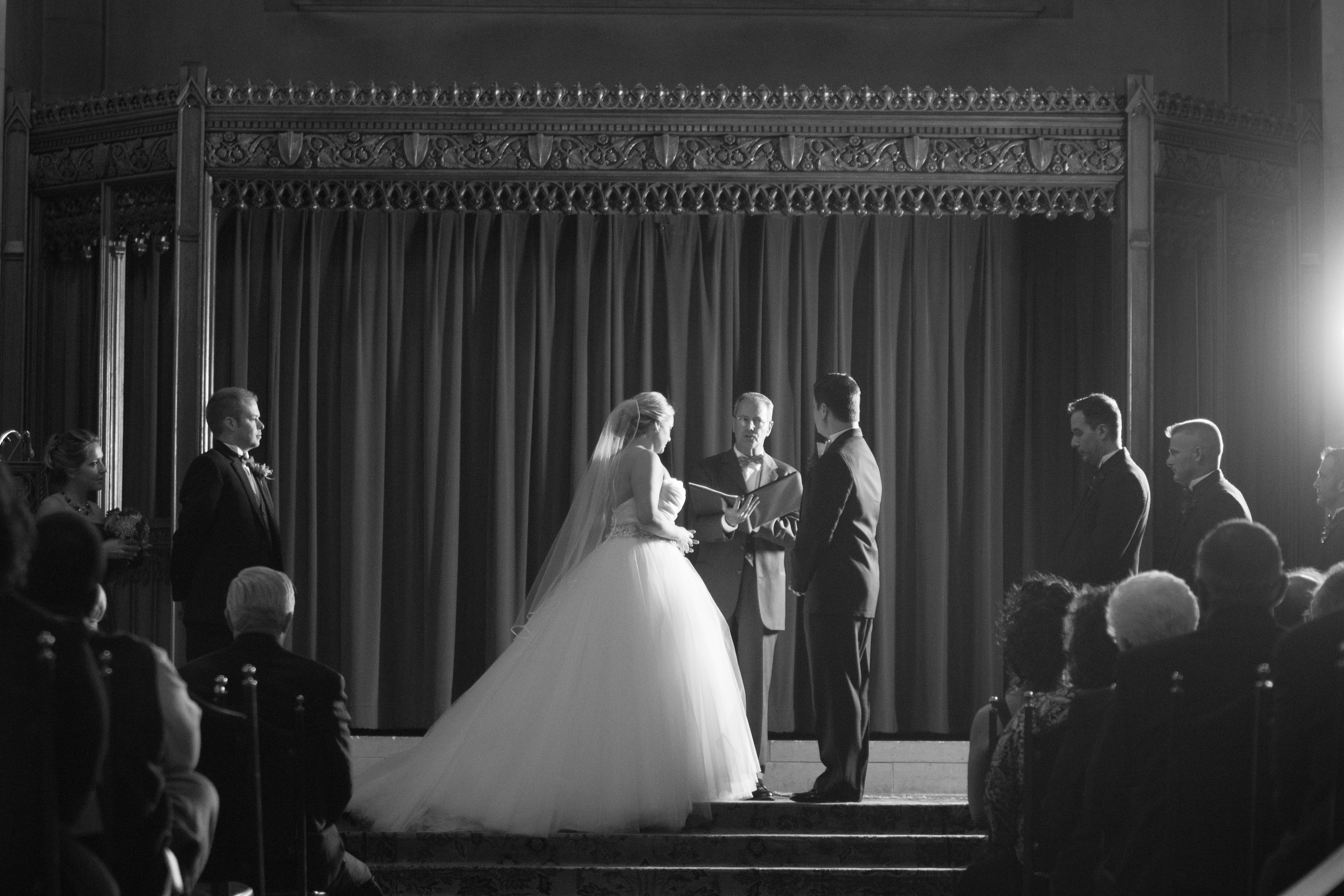 Masonic Temple Wedding