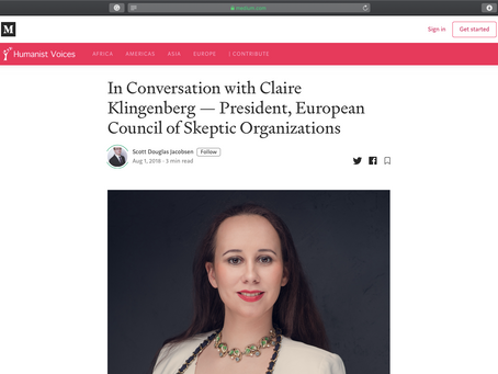 In Conversation with Claire Klingenberg — President, European Council of Skeptic Organizations