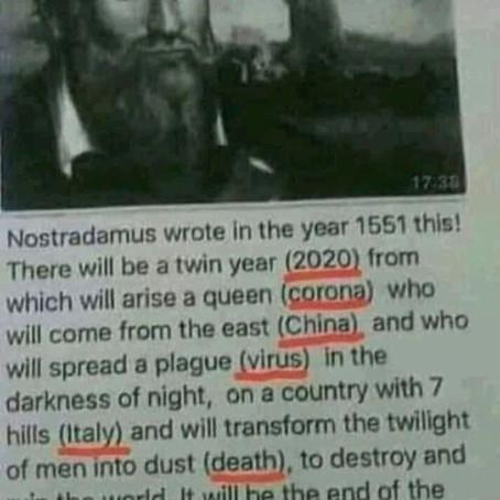 Ne, Nostradamus nepředpověděl koronavirus