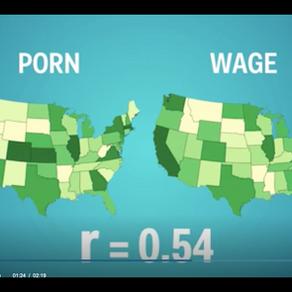 Kdo se víc dívá na porno, víc vydělává - a jiné korelace