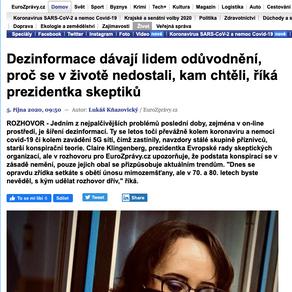 Rozhovor pro Eurozprávy