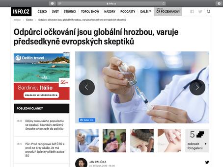 Odpůrci očkování jsou globální hrozbou, varuje předsedkyně evropských skeptiků