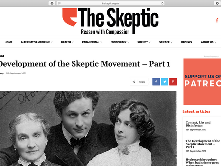 The Development of the Skeptic Movement – Part 1