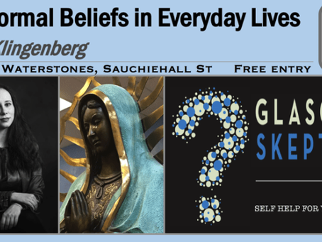 Speaking for Glasgow Skeptics