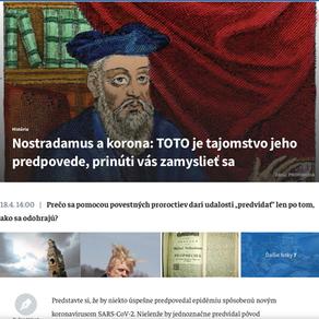 Nostradamus a korona: TOTO je tajemstvo jeho predpovede, prinúti vás zamyslieť se