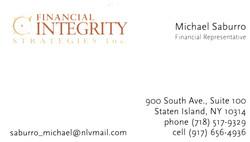 Michael Saburro Financial Rep Staten Island Financial Integrity Strategies Inc.j