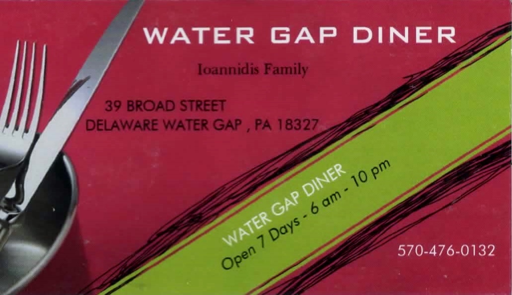 Water Gap Diner Ioannidis Family