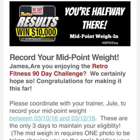 Day 43 | 90 Day Weightloss Challenge #GoRetro