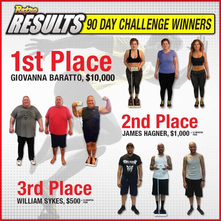 I WON 2nd PLACE Across The Country! | 90 Day Weightloss Challenge #GoRetro