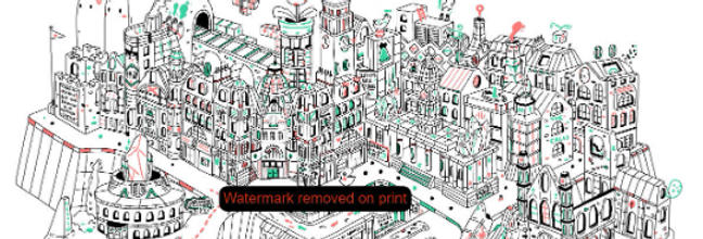 Pixelated Leeds - Art Print