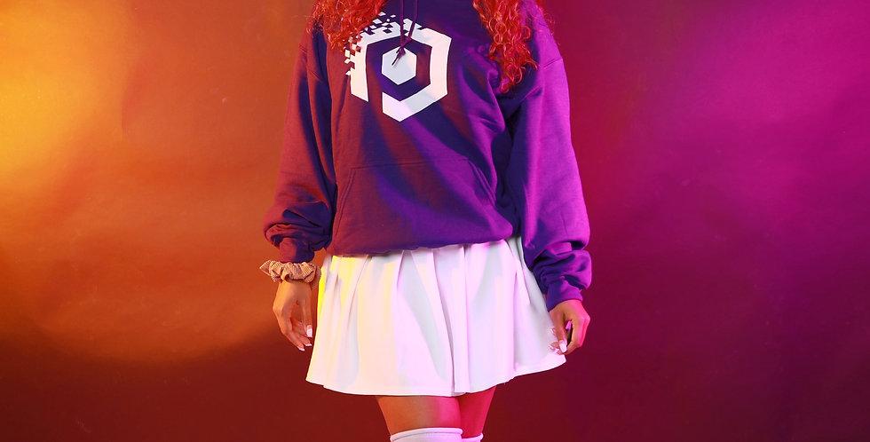 """Pixel """"P"""" Hoodie - Purple"""