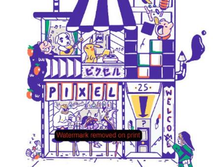 Lets Visit Pixel! Fine Art Print