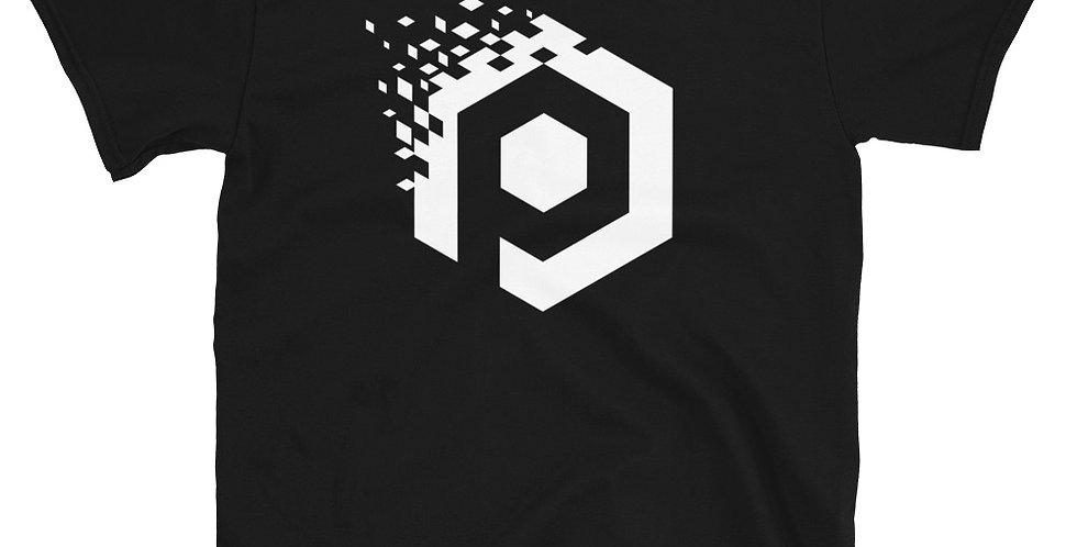 White Logo - Black T-Shirt