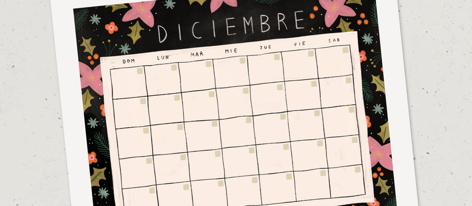 Calendario para diciembre
