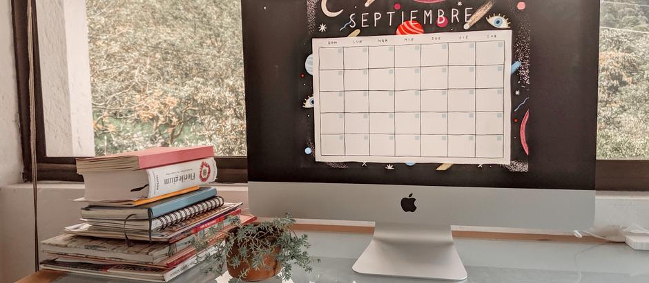 FREE September calendar template