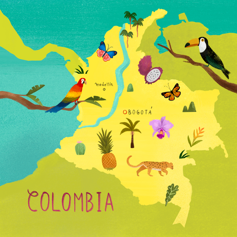Colombian Map