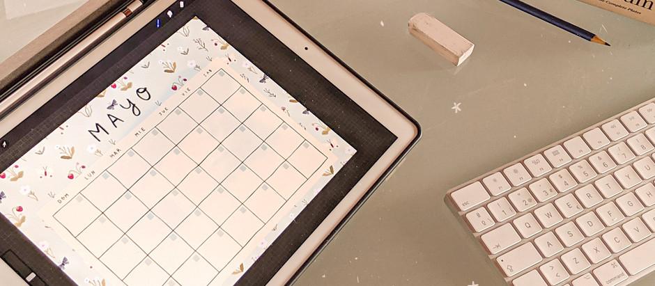 May & June calendar templates
