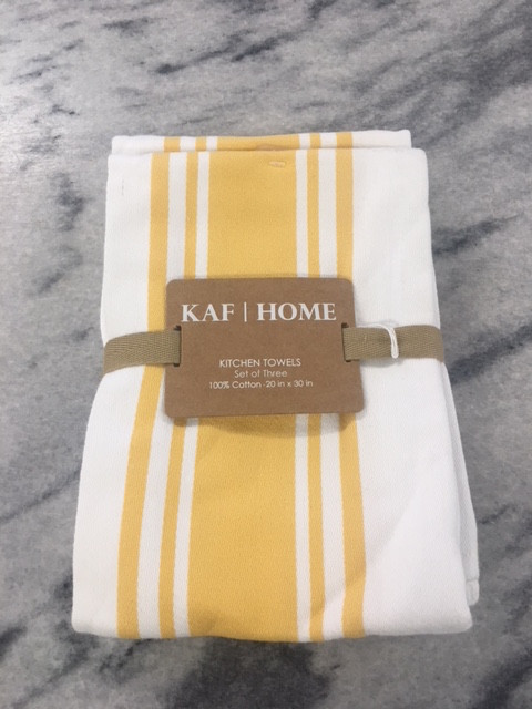 Set Of 3 Yellow Kitchen Towels