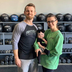 Bunk, Jo, and the cutest crossfitter at Artisan Anna Chase.