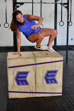 Chasity conquering the Box scale overs!