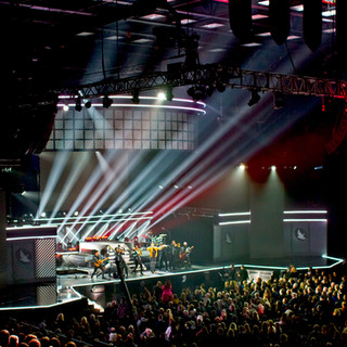 The Dove Awards with floor and trus mount fixtures