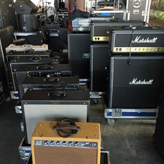Amps ready for a festival