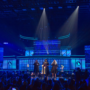 The Dove Awards with floor and truss fixtures