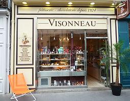 boutique devanture patisserie chocolaterie chocolatier visonneau nantes