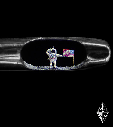 The Moon Landing in the eye of a needle