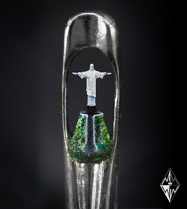 Christ The Redeemer in the eye of a needle