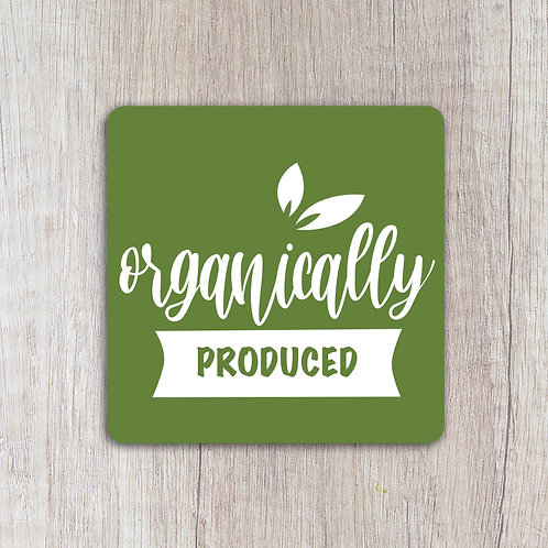 organically produced labels