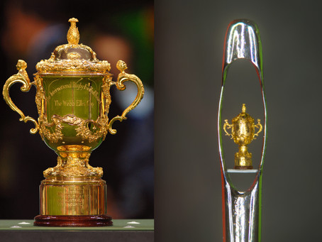 Would you like to own the World's smallest hand-carved sculpture of the Web Ellis Rugby World Cup?