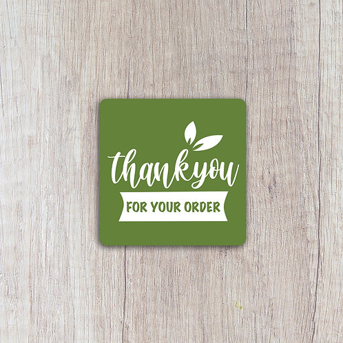 Thank You For Your Order Labels