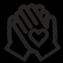 hands volunteering icon