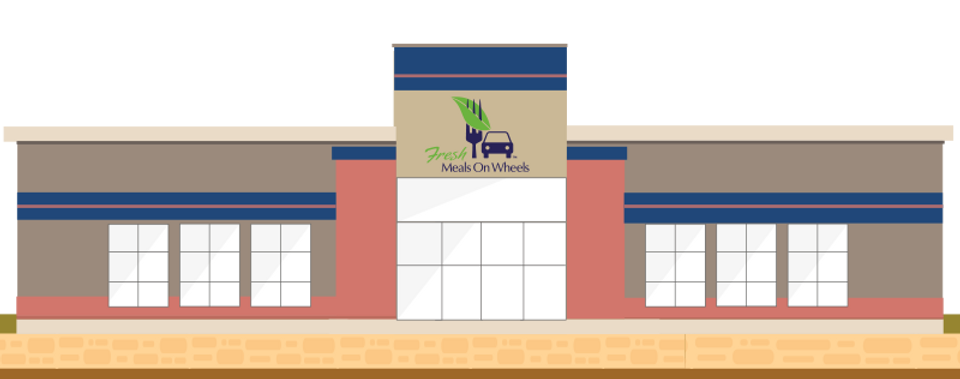 Meals on Wheels Building graphic