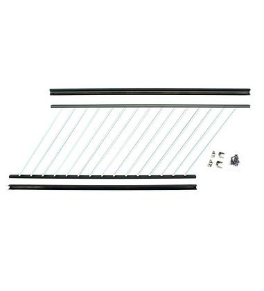 "Otoli Preassembled Powder Coated Aluminum Stair Panel 36"" x 6'  - Tuxedo"