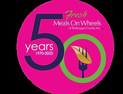 50 Year Meals on Wheels Logo