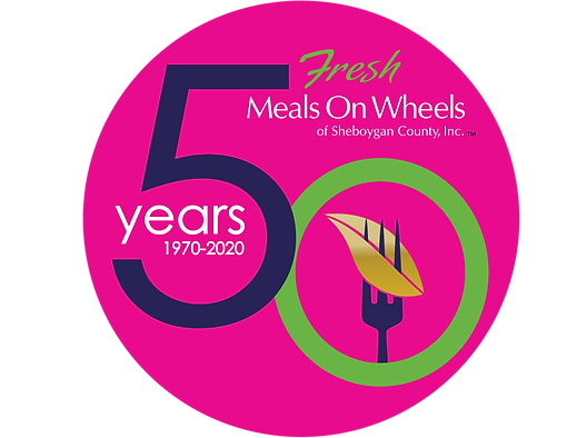 Meals on Wheels 50th Anniversary Logo