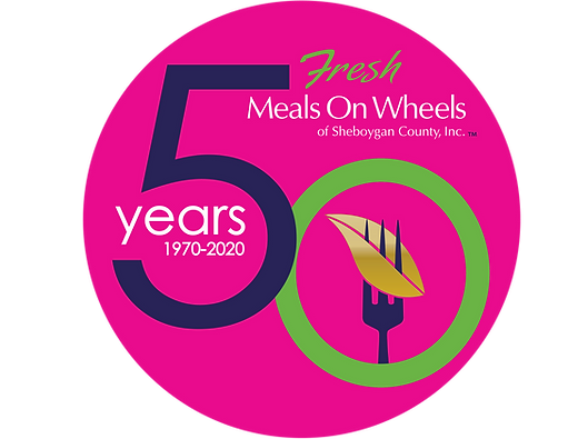 Meals on Wheels 50th Anniversary Logo