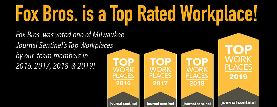 Fox Bros. rated top workplace pageheder