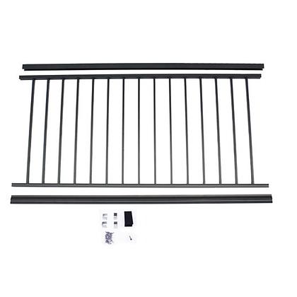 "Otoli Preassembled Powder Coated Aluminum Railing Panel 36"" x 6' - Black"
