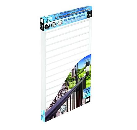 "Otoli  Preassembled Powder Coated Aluminum Railing Panel 42"" x 6' - White"